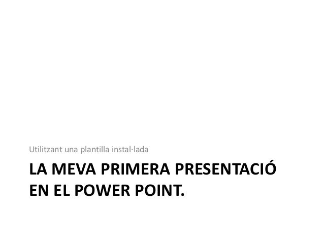 Activitats Power Point