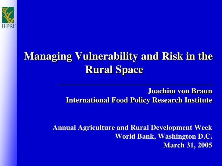 Managing Vulnerability and Risk in the Rural Space