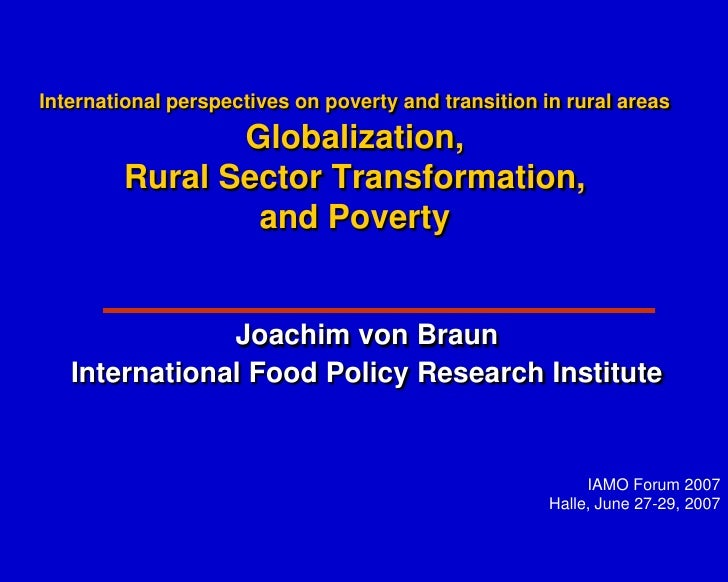 International perspectives on poverty and transition in rural areas                Globalization,         Rural Sector Tra...