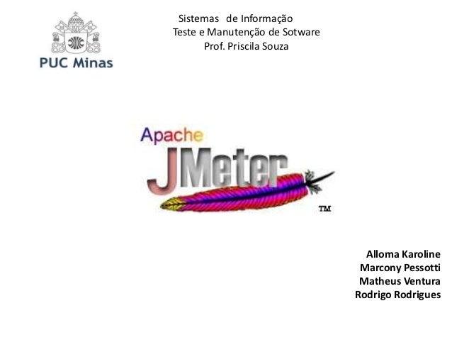 Sistemas de InformaçãoTeste e Manutenção de Sotware       Prof. Priscila Souza                                  Alloma Kar...