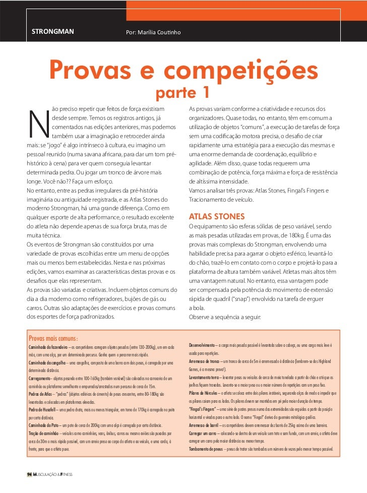 STRONGMAN                                                            Por: Marília Coutinho               Provas e competiç...