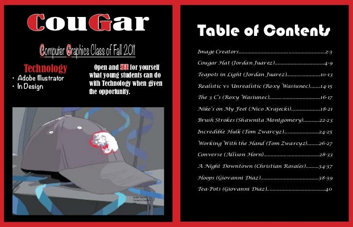 CouGar                                               Table of Contents          Computer Graphics Class of Fall 2011      ...
