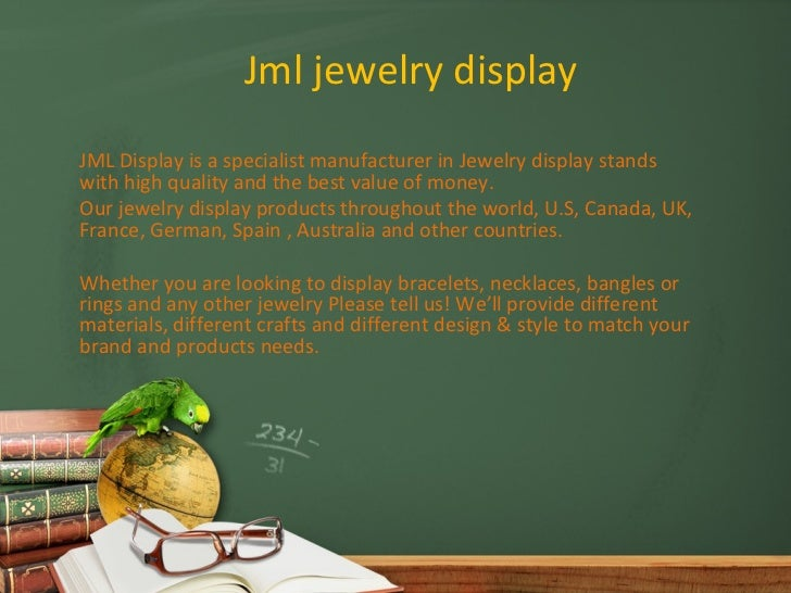 Jml jewelry displayJML Display is a specialist manufacturer in Jewelry display standswith high quality and the best value ...