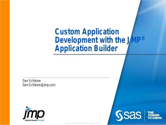 Custom Application Development with the JMP Application Builder