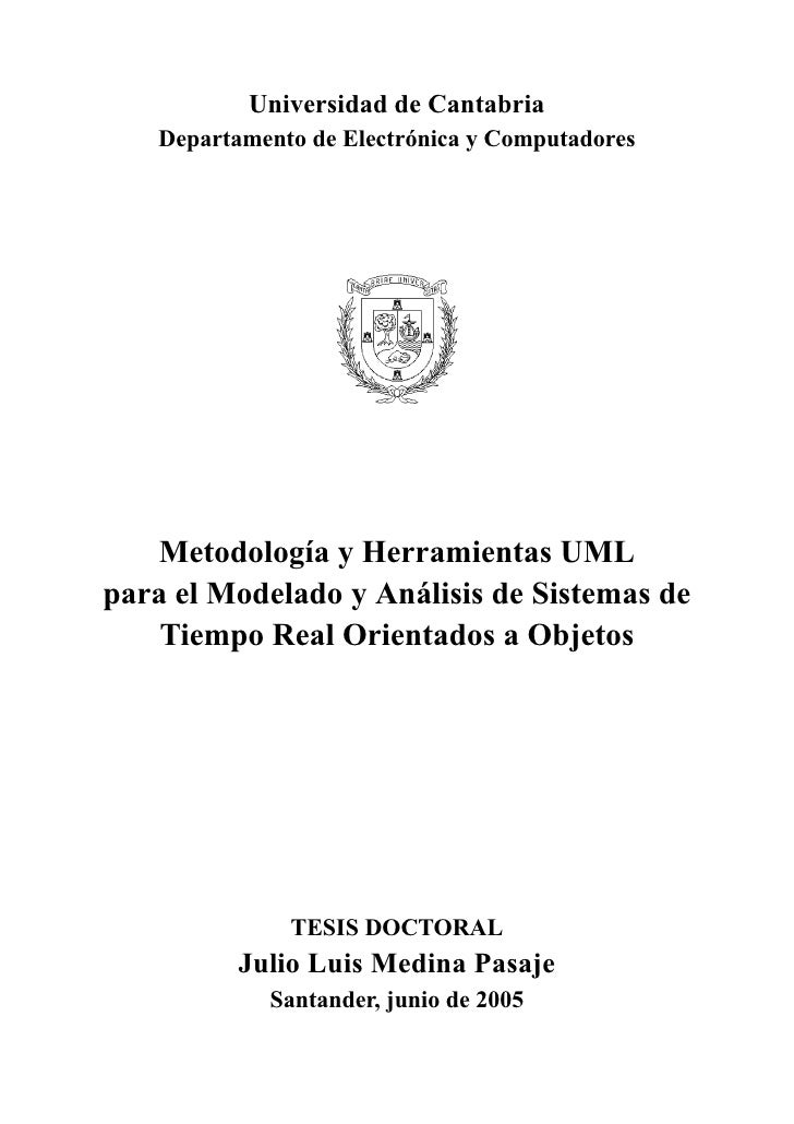 Universidad de Cantabria   Departamento de Electrónica y Computadores    Metodología y Herramientas UMLpara el Modelado y ...