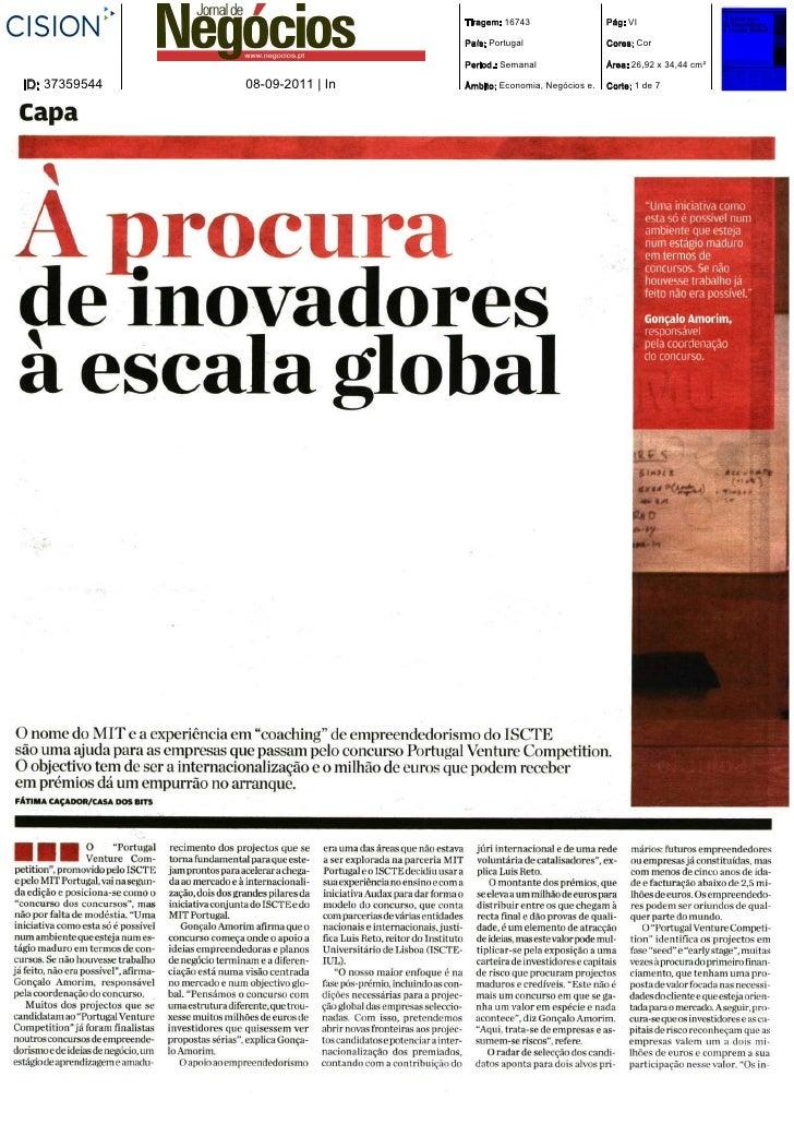 Tiragem: 16743                  Pág: VI                                 País: Portugal                  Cores: Cor        ...