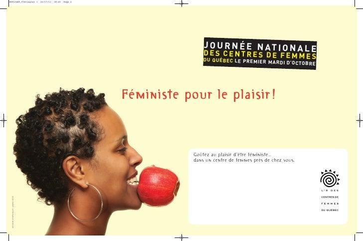 Dépliant de la Journée nationale des centres de femmes 2011