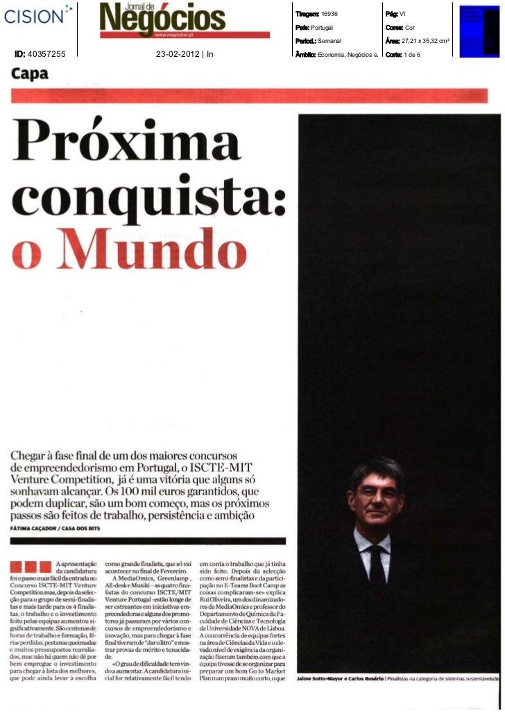 Tiragem: 16936                  Pág: VI                                 País: Portugal                  Cores: Cor        ...