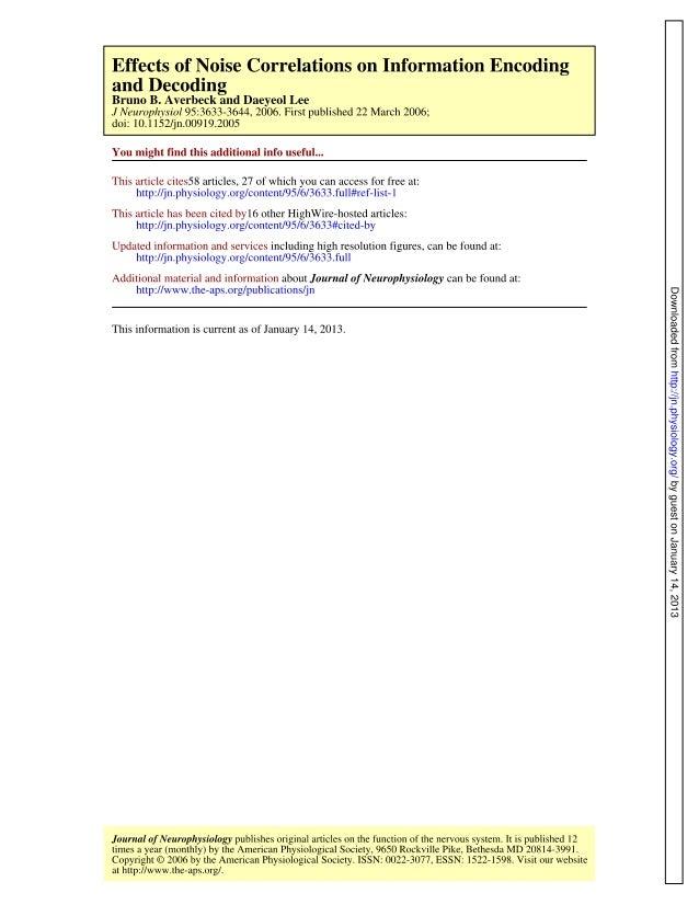 J neurophysiol 2006-averbeck-3633-44[1]