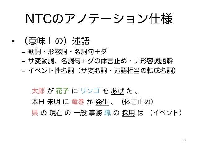 日本語文章に対する 述語項構造...