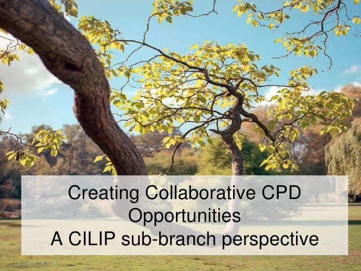 Jospeh Norwood and Suzanne Tatham CDG2012 Creating collaborative CPD opportunities