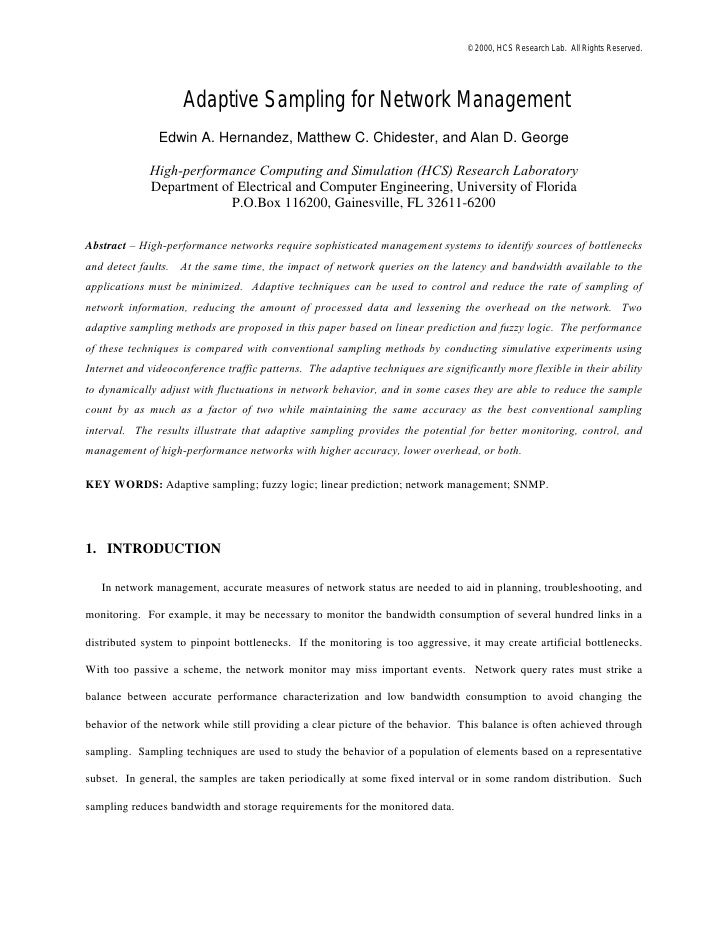 Paper for the Journal of Networks and Systems Management - JNSM 2000