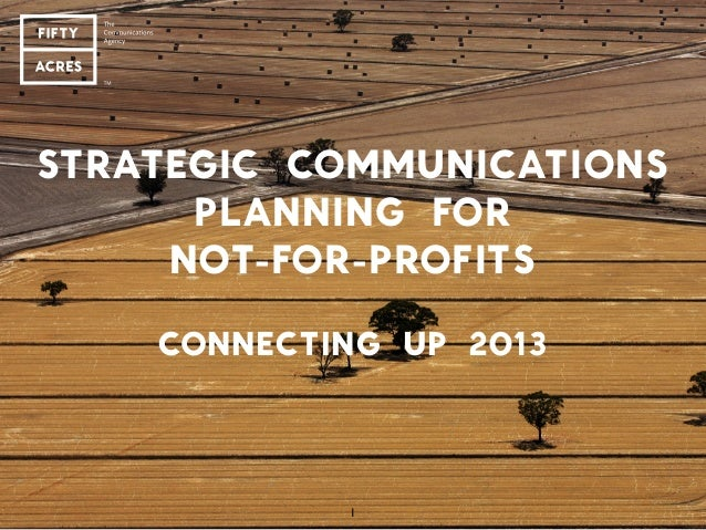 Strategic communications planning for not-for-profits - Jo Scard