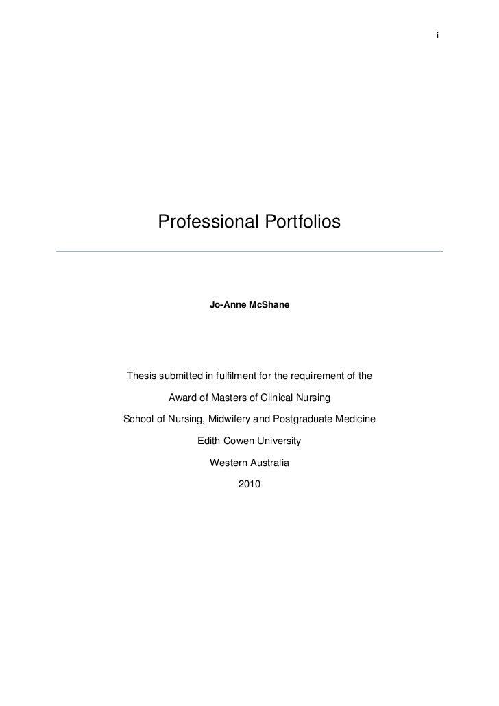 Portfolios thesis