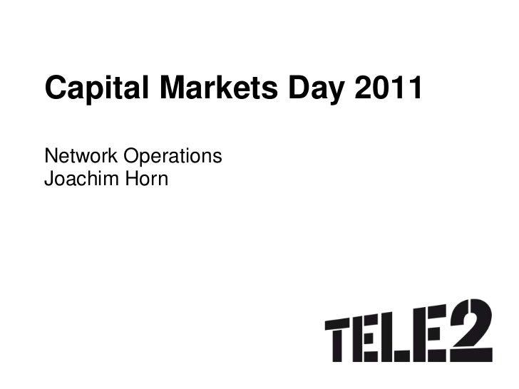 CMD2011 - Joachim Horn - Network operations
