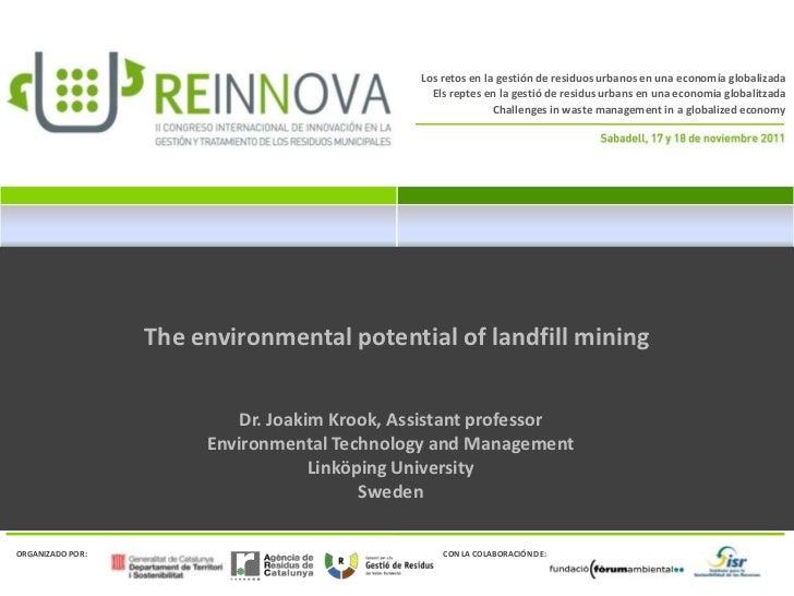 Los retos en la gestión de residuos urbanos en una economía globalizada                                                Els...
