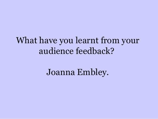 Joanna powerpointaudiencefeedback