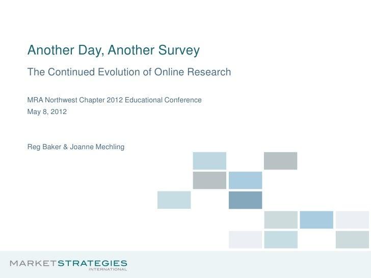 Evolution of Research by Joanne Mechling, Market Strategies