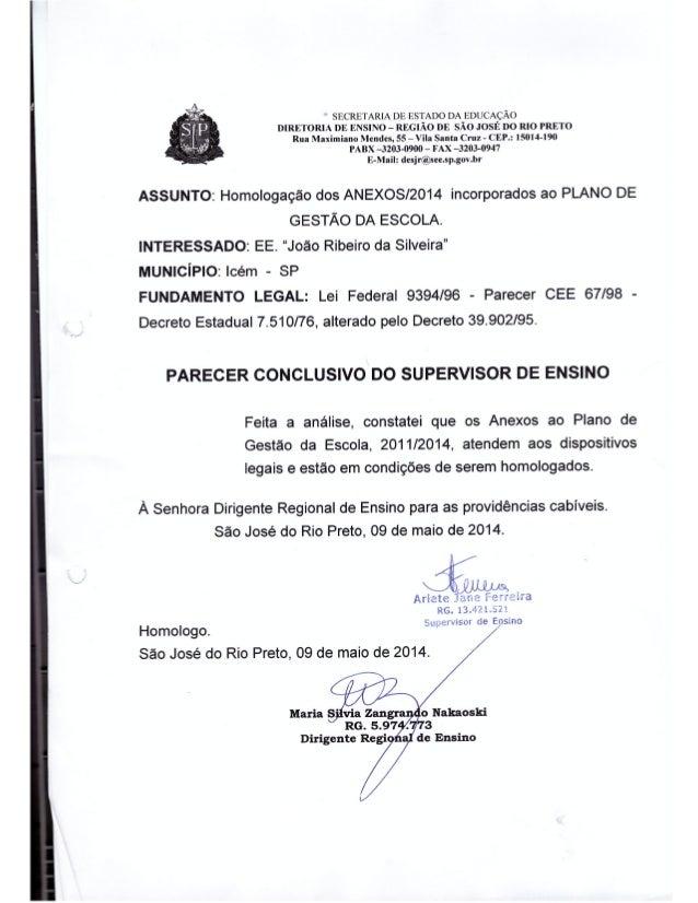 Plano Gestão EE João Ribeiro da Silveira