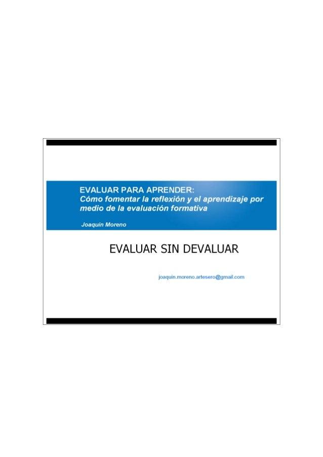 Joaquin Moreno - evaluar para aprender