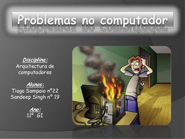 trabalho sobre avarias de computadores