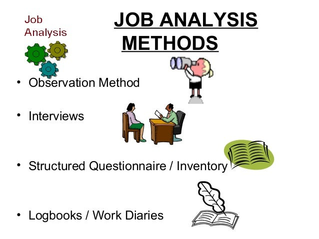 evaluation of job analysis methods essay Introduction concept and definition of job analysis objective of job analysis steps in job analysis job job analysis business essay method of job evaluation.