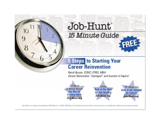 Job Hunt-Five Steps to Starting Your Career Reinvention