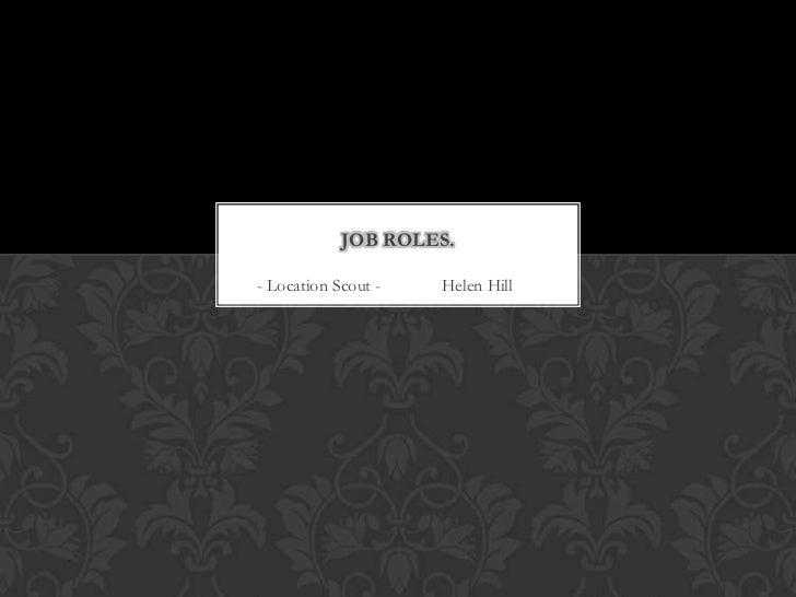 Job roles presentation