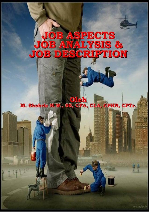 Pelatihan Job Aspects, Job Analysis & Job Description