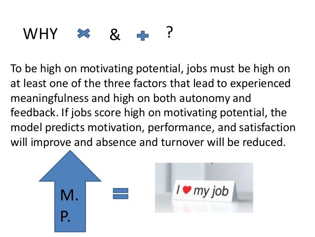 calculate the motivating potential score mps Download free full-text of an article motivating potential score (mps) determination using by job characteristics and its relationship with job satisfaction among.