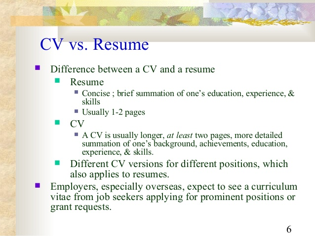 Resume Versus Cv Resume For You nntcJgUg