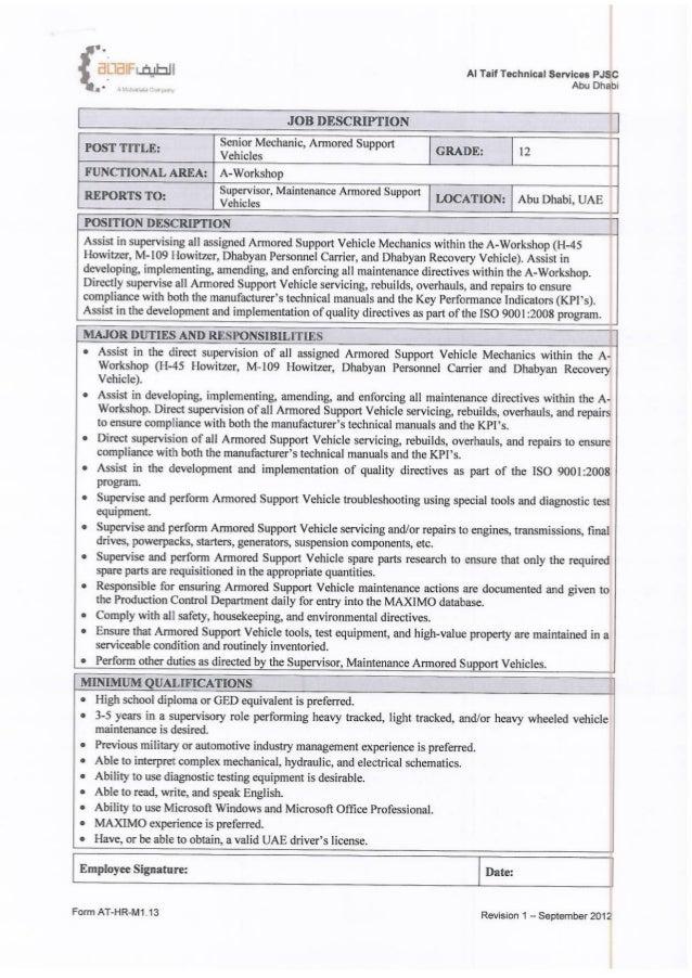 Job description  1