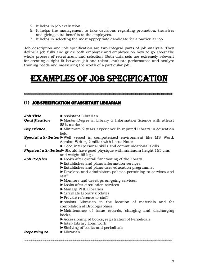 purpose of a job description essay Job descriptions are important for attracting the right job candidates, evaluating employees' performance, and more here are tips for writing good job descriptions.