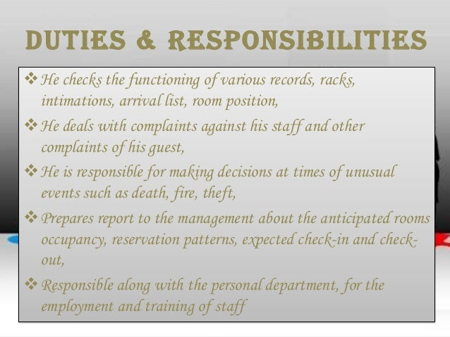 role of front office in the hotel industry tourism essay Hospitality industry conclusion is one of the topic in which  staff members right  from the front desk employees to the sales force o the hospitality workplace   baum, tom (2009), human resource management for tourism, hospitality and  leisure, cengage learning  role of intercultural training in hospitality  workplaces.