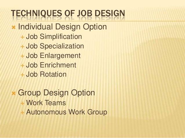 Job design copy