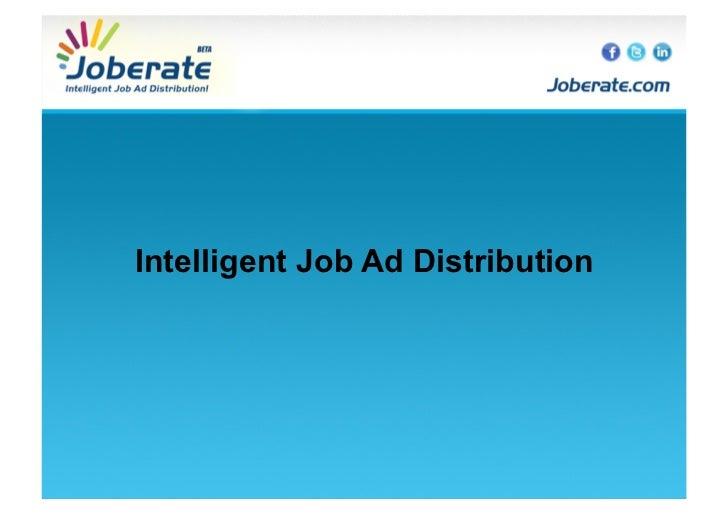 Intelligent Job Ad Distribution