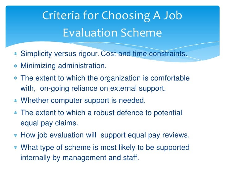 paterson job grading system The decision band method of job evaluation and thereby establish a grading a comprehensive job description and a reporting system in place to.