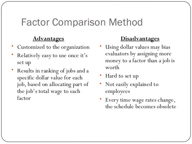 advantages disadvantages of job evaluation Answer to what are the advantages and disadvantages of using more than one job evaluation plan in any single organization.