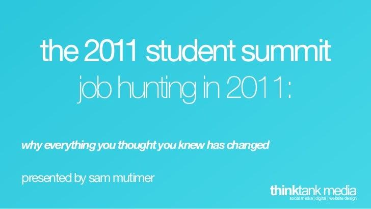 Social Media and Job Hunting 2011