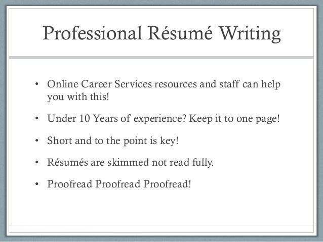 professional resume writing services 2014