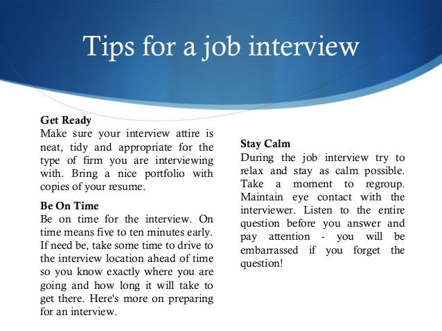 How to make an interview?