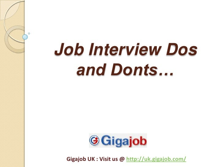 Second Interviewing Dos Donts Interview Questions