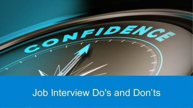 interview do and donts