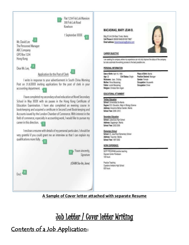 job letter  u0026 resume writing