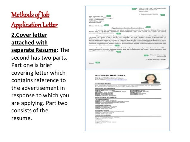 letter resume writing file