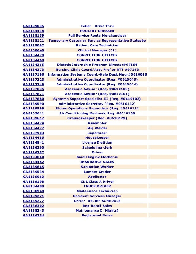 Georgia National Guard Employment Opportunity/Statesboro Area Job Listings
