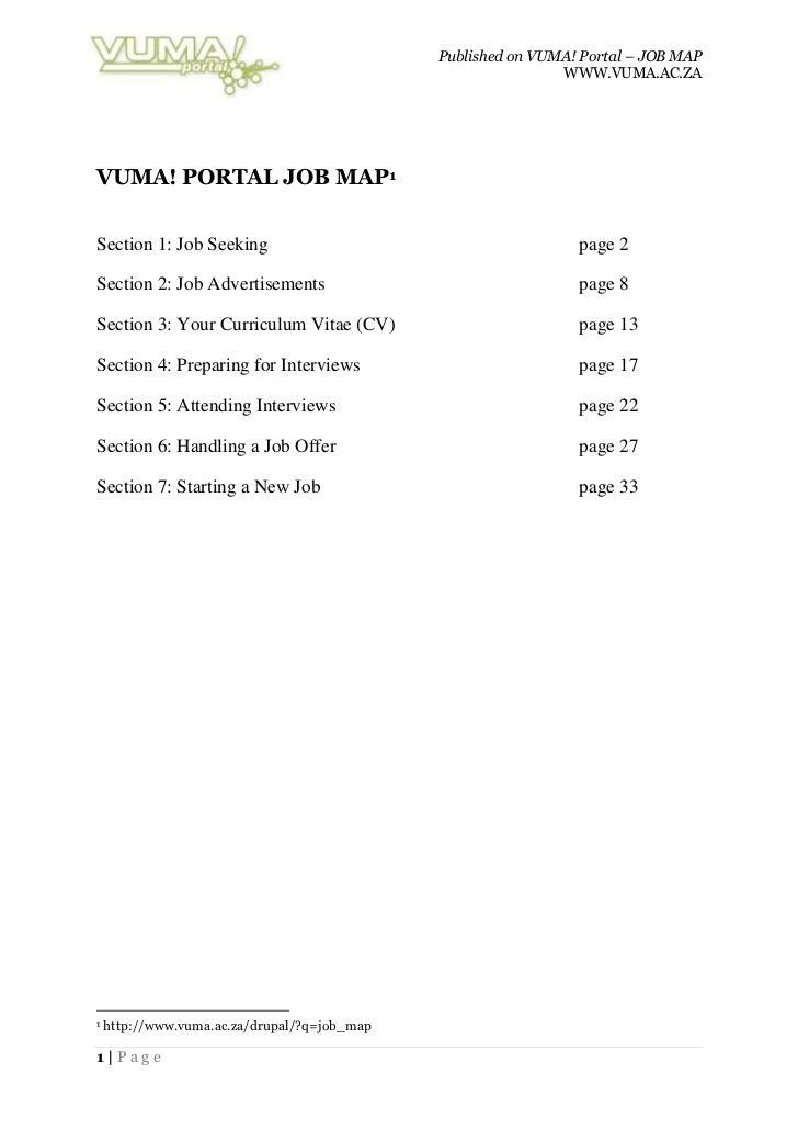 VUMA! Portal Job Map (doc)' )