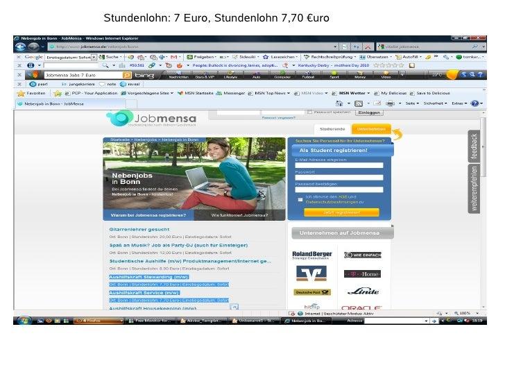 Stundenlohn: 7 Euro, Stundenlohn 7,70 €uro