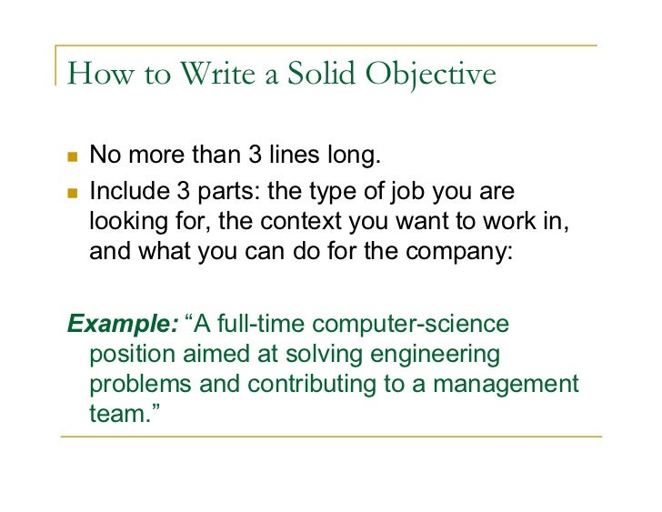 Resume Objective And Summary,Best Objective To Write In Resume ...