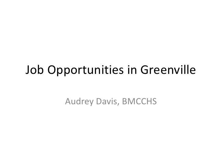 Job Opportunities In Greenville
